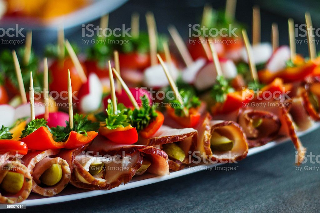 Healthy finger food stock photo