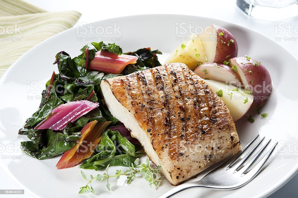 Healthy Fish Dinner stock photo