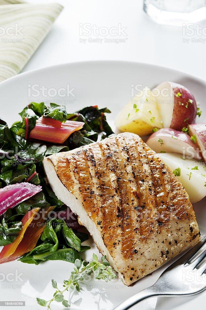 Healthy Fish Dinner stock photo
