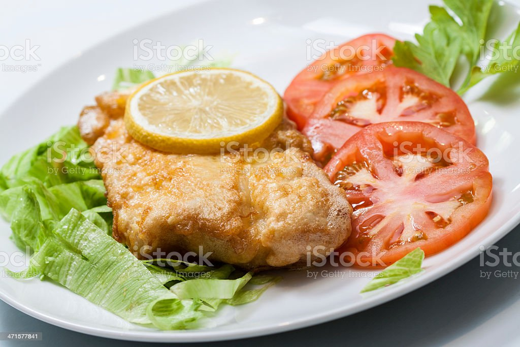 Healthy Fish meal stock photo