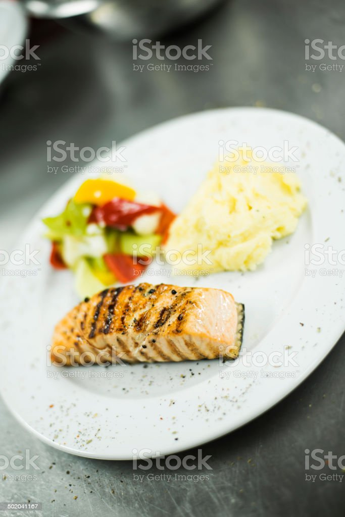 Healthy Fish meal royalty-free stock photo