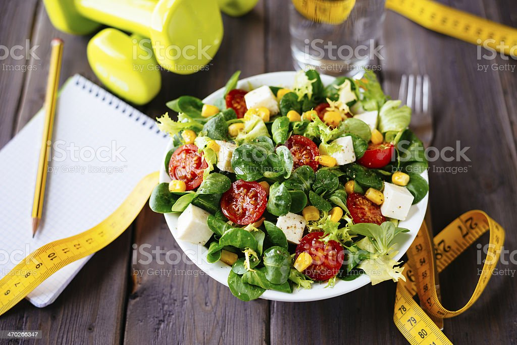 Healthy fitness salad stock photo