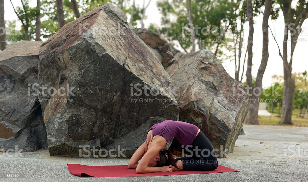 healthy fitness yogi training stock photo