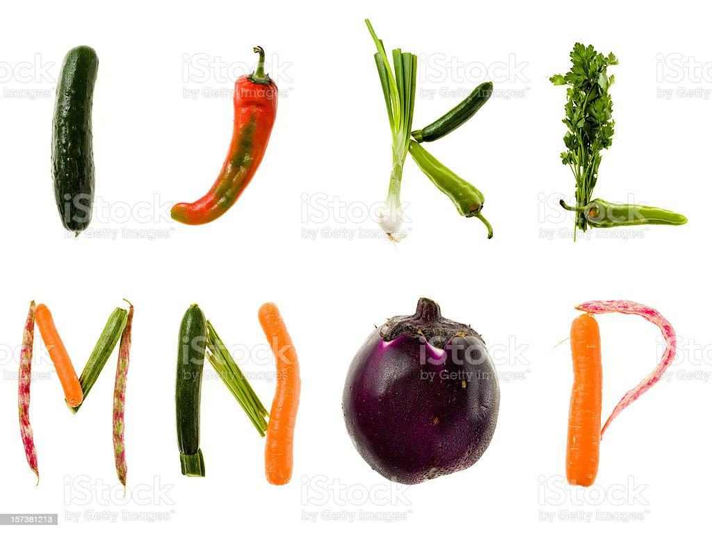 XXL Healthy Food Alphabet stock photo