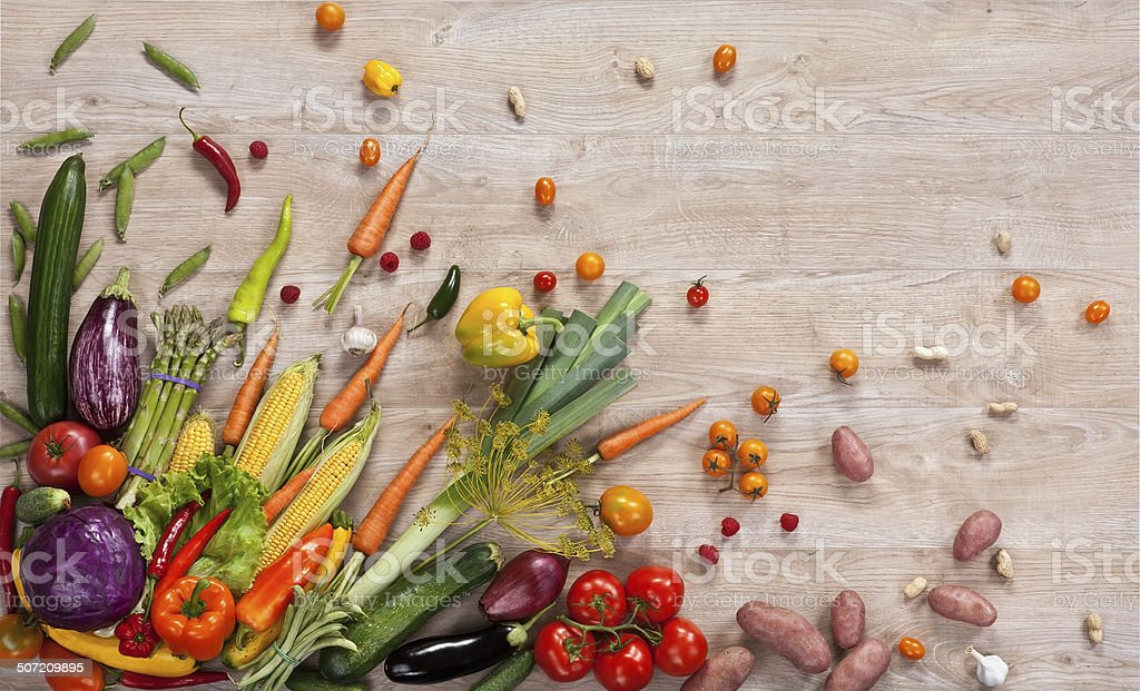 Healthy food background stock photo