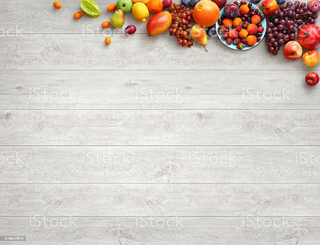 Food Background Healthy Food Background Studio Photo Of Different Fruits Stock