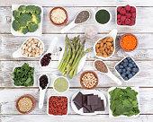 Healthy food called super foods