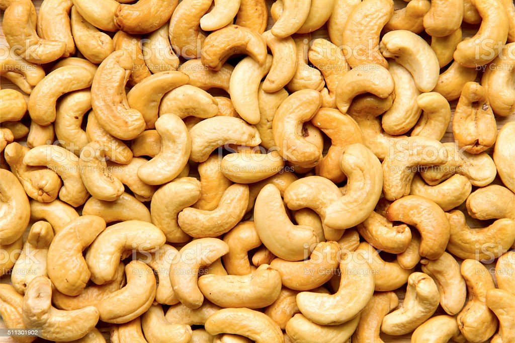 Healthy food, cashews rich in heart friendly fatty acids. Cashew stock photo