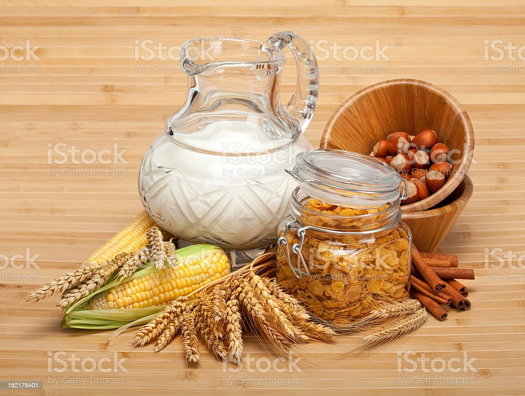 Healthy food - corn flakes royalty-free stock photo
