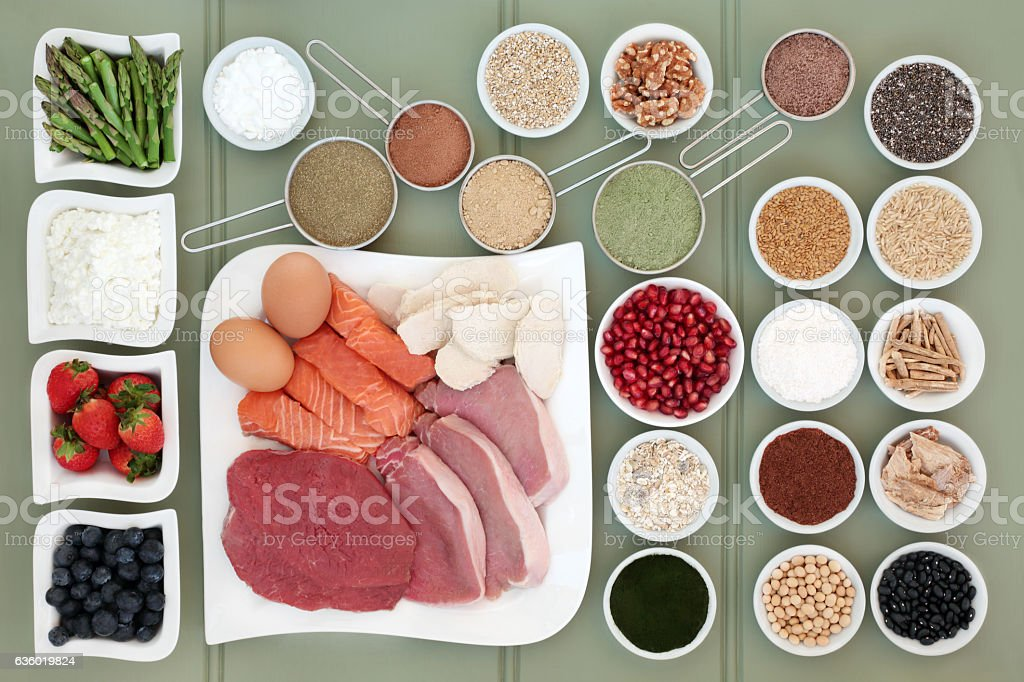 Healthy Food for Body Builders stock photo