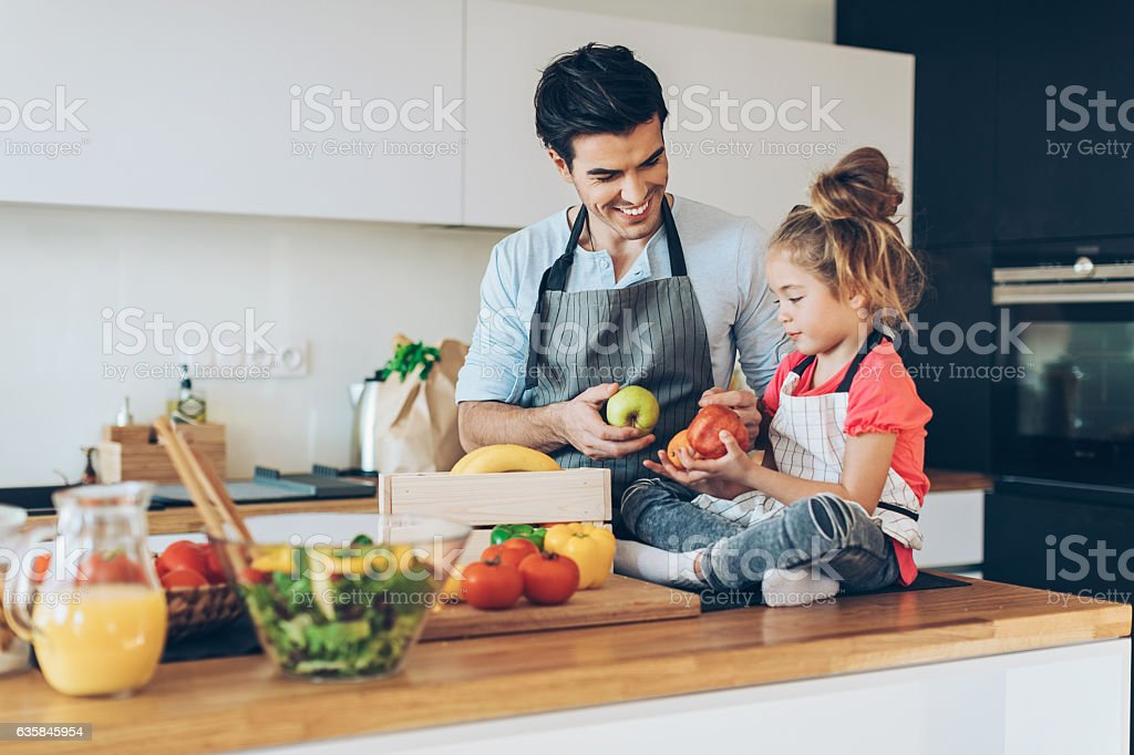 Healthy food for the family stock photo