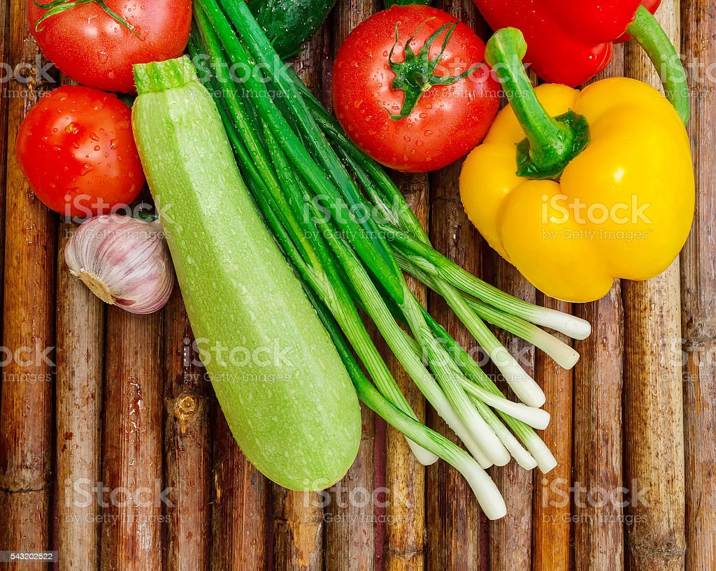 Healthy food from village stock photo