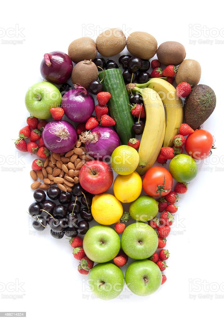 Healthy food head stock photo