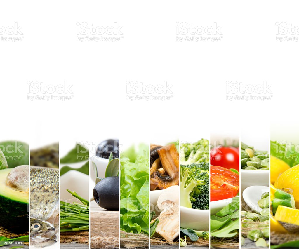 Healthy Food Mix stock photo