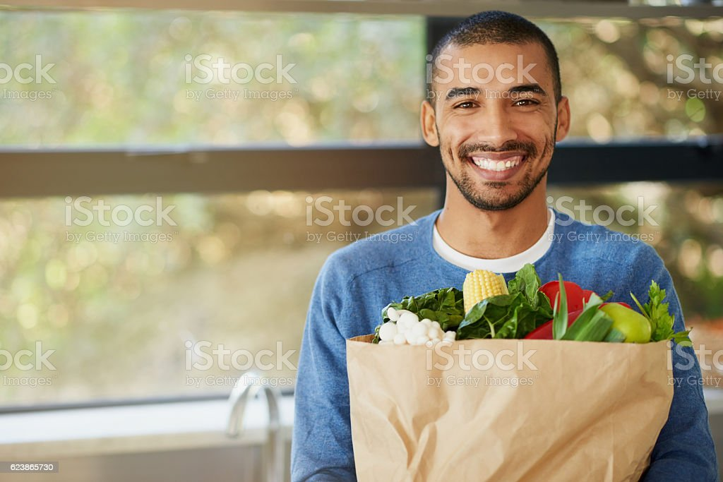 Healthy food motivates me to be my best stock photo