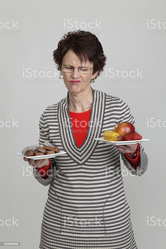 Healthy food or not royalty-free stock photo