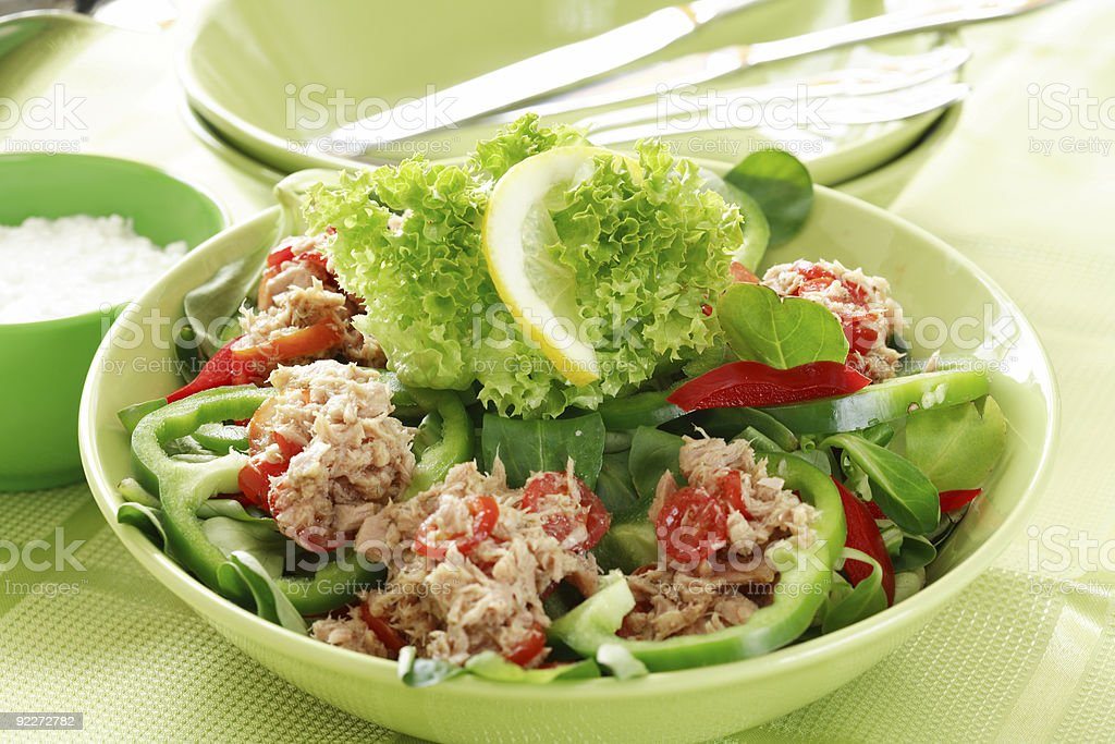 Healthy food, salad with tunny royalty-free stock photo