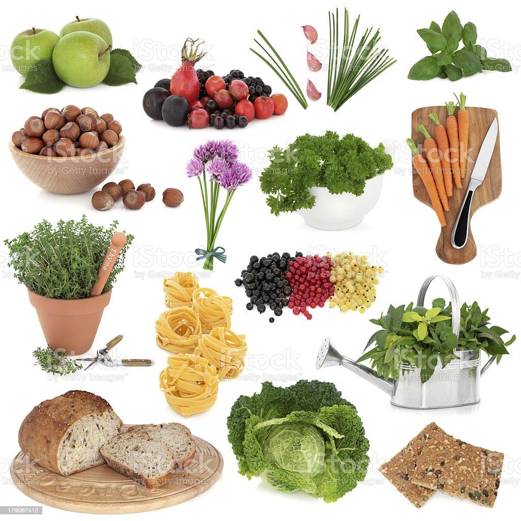 Healthy Food Sampler stock photo