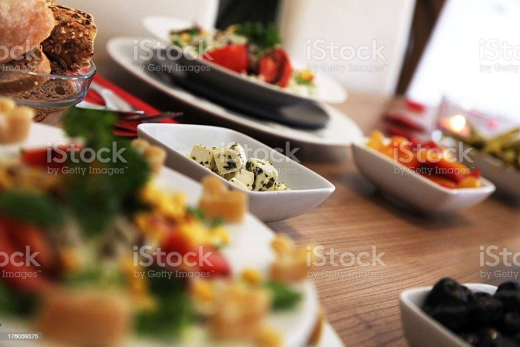 Healthy Food Table stock photo
