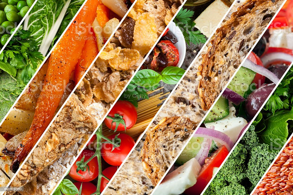 Healthy Foods Collage stock photo