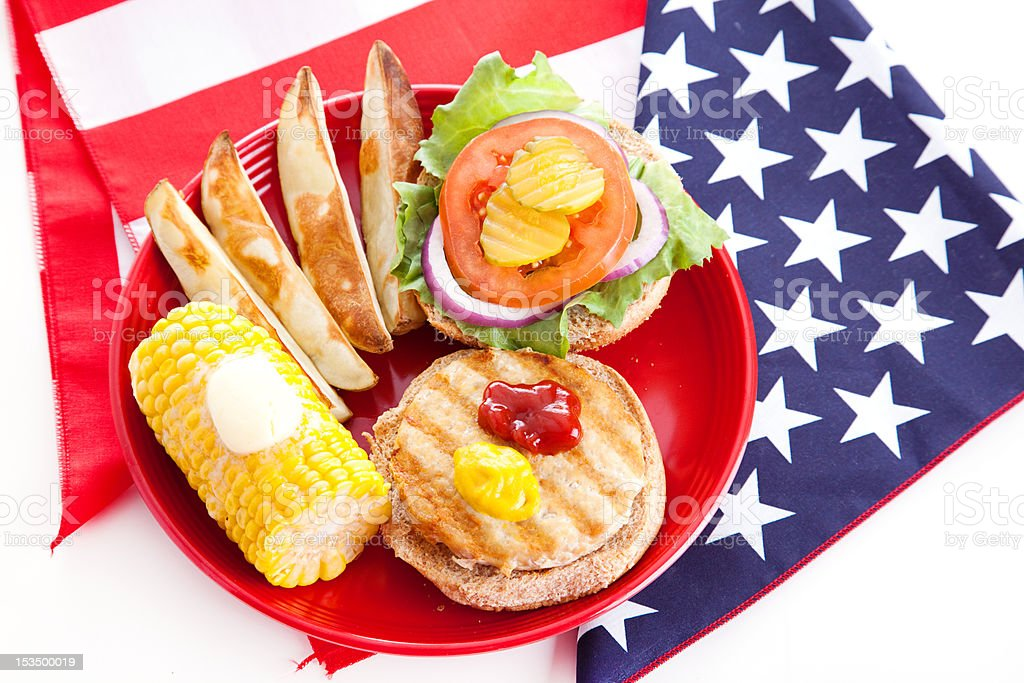 Healthy Fourth of July Picnic royalty-free stock photo