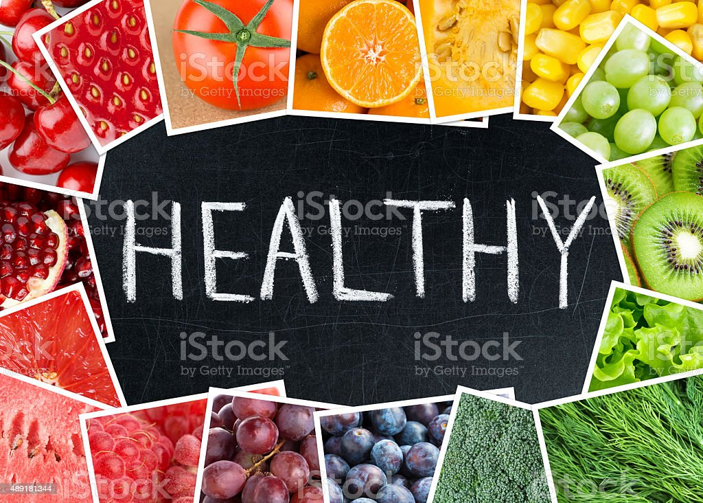 Healthy fresh color food stock photo