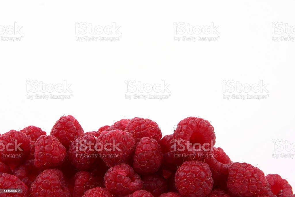 Healthy fresh raspberries royalty-free stock photo