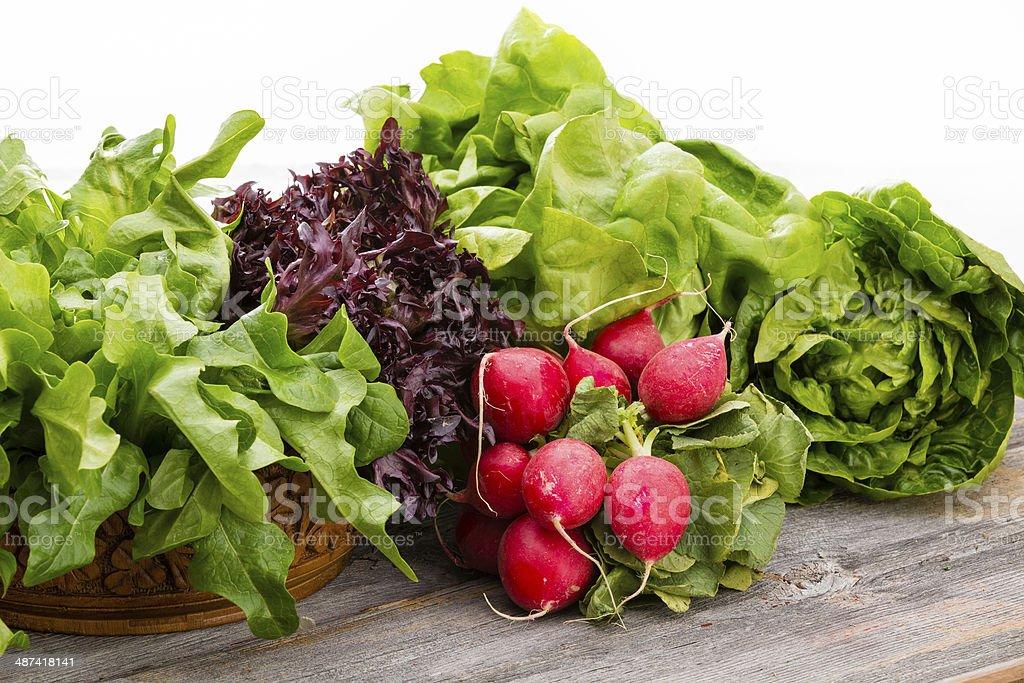 Healthy fresh salad ingredients stock photo