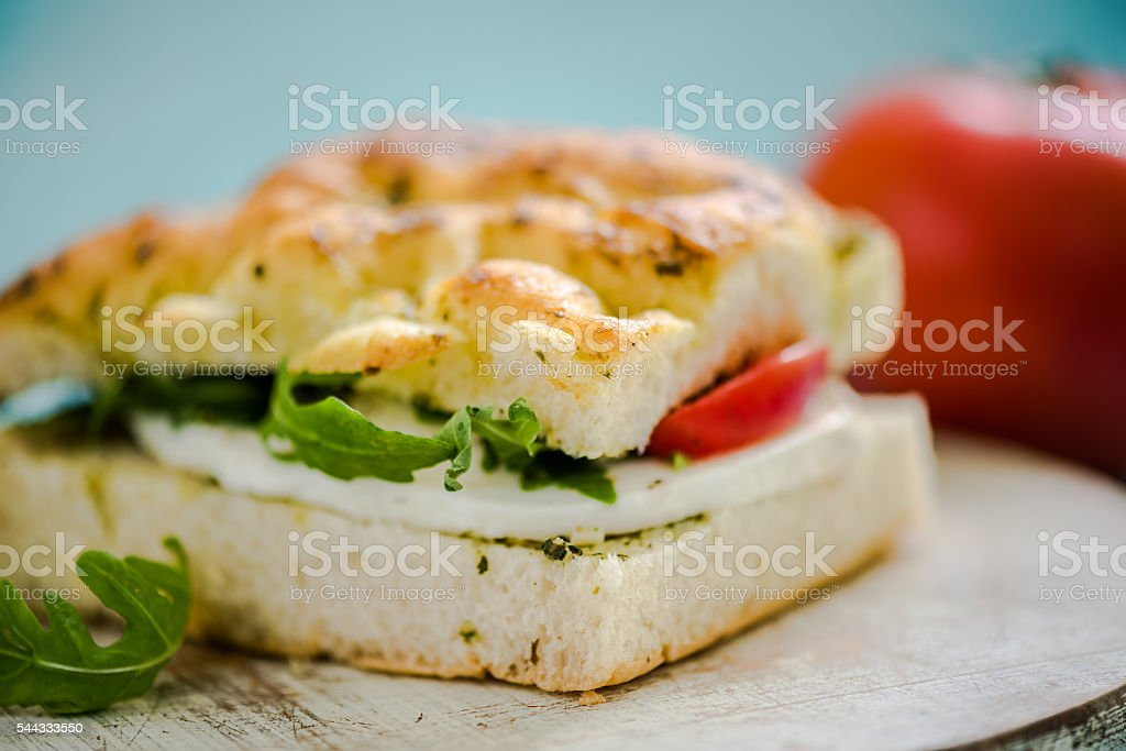 healthy fresh sandwich stock photo