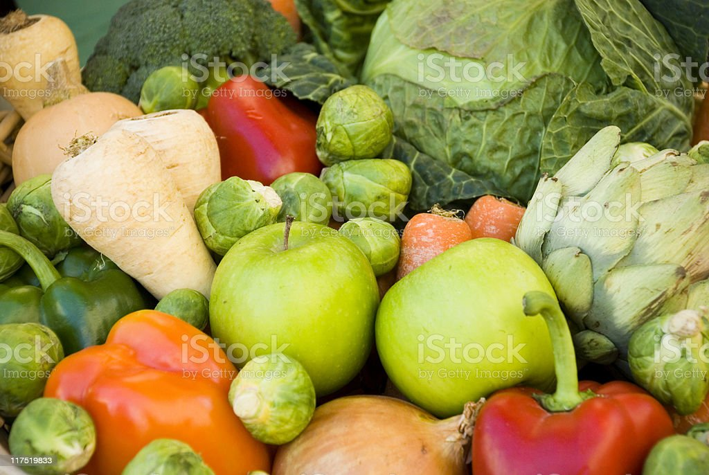 Healthy fruit and vegetables royalty-free stock photo