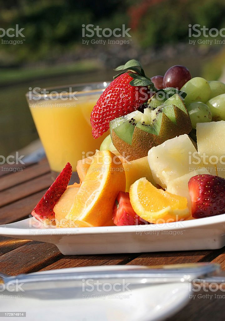 Healthy Fruit Salad royalty-free stock photo