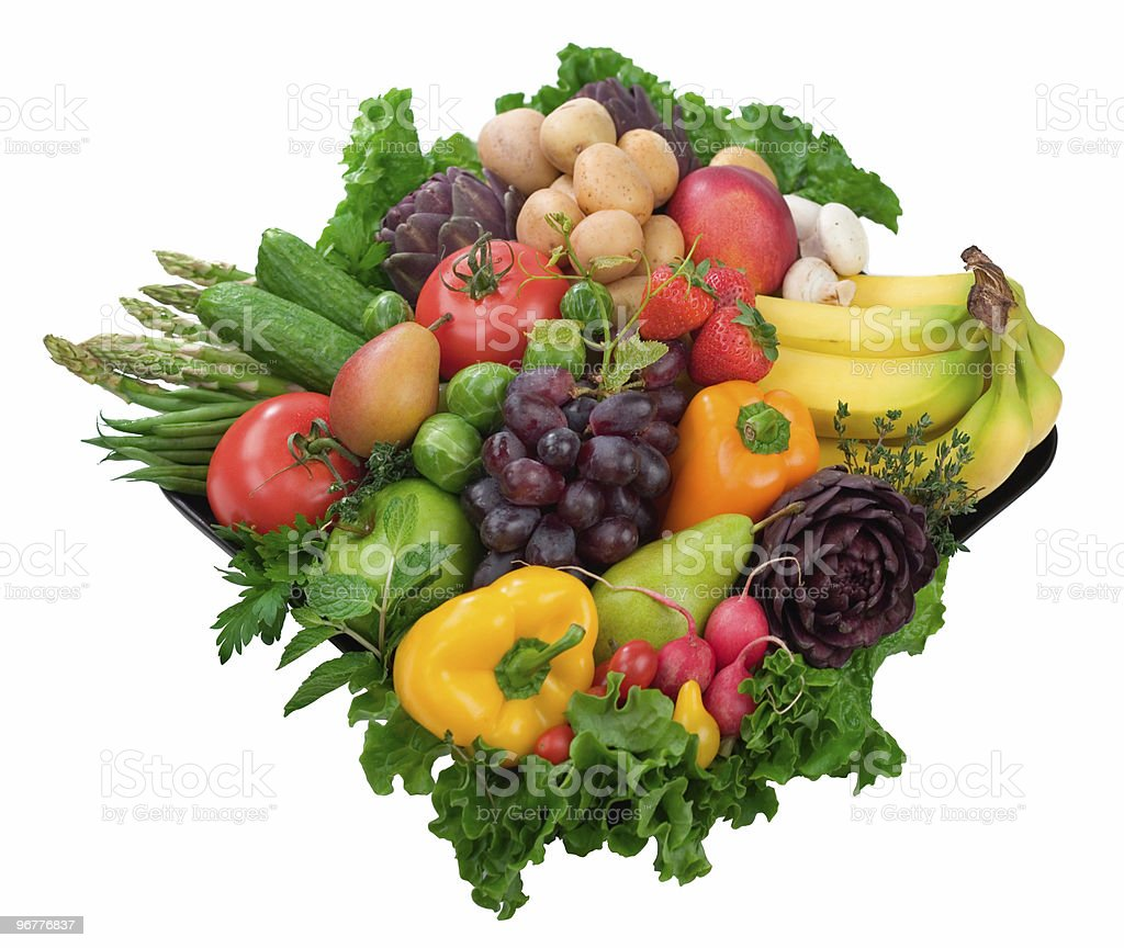 Healthy Fruits & Vegetables royalty-free stock photo