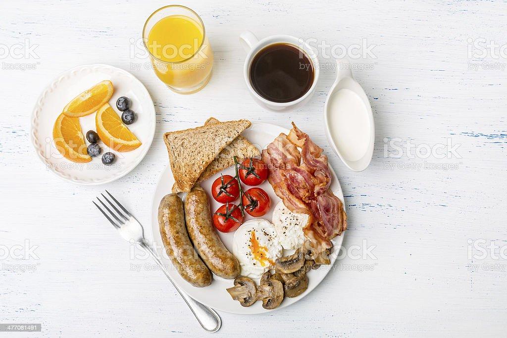 Healthy Full English Breakfast stock photo