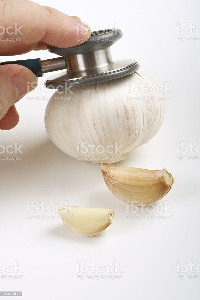 Healthy Garlic 2 royalty-free stock photo