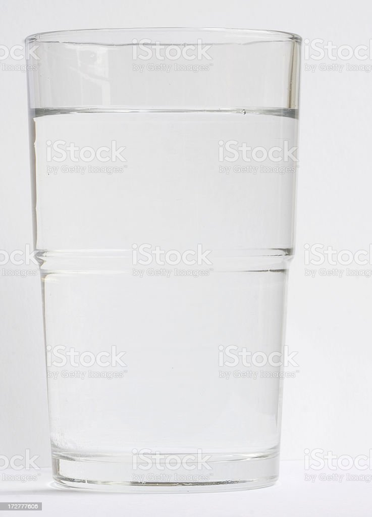 healthy glass of water royalty-free stock photo