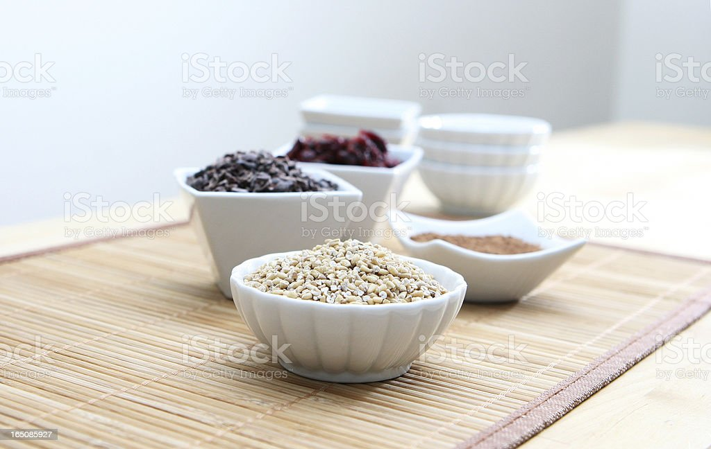 Healthy Grains and Ingrediends royalty-free stock photo