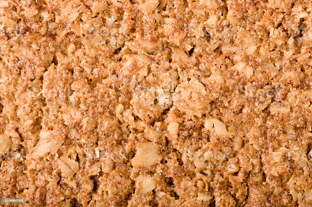 Healthy Granola bar background. Wholegrain oats, copy space. stock photo