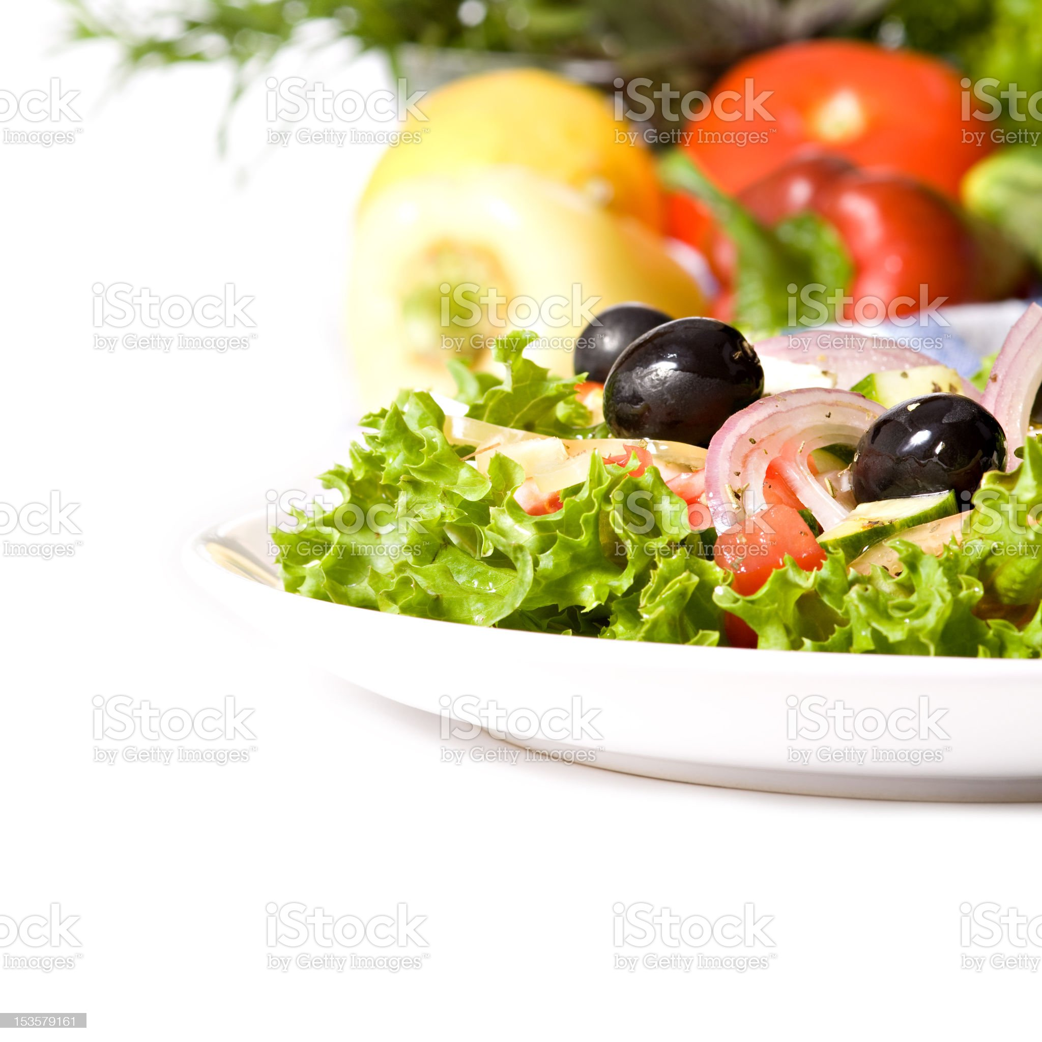 Healthy greek salad royalty-free stock photo