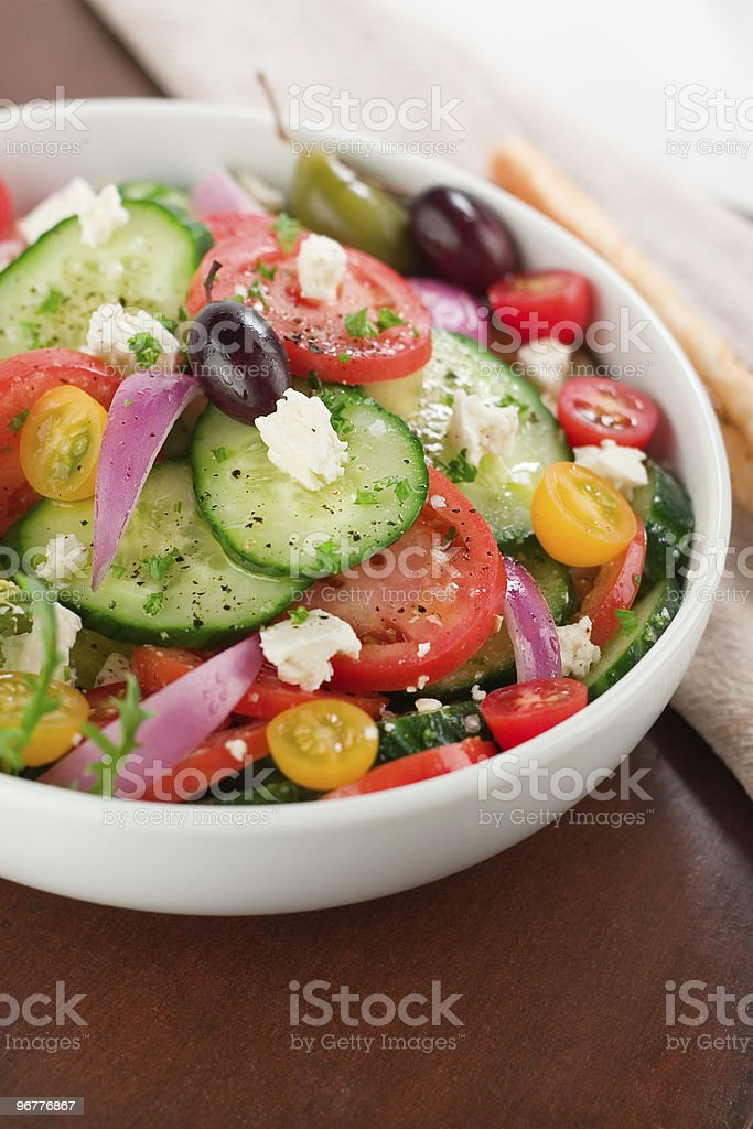 Healthy Greek Salad royalty-free stock photo