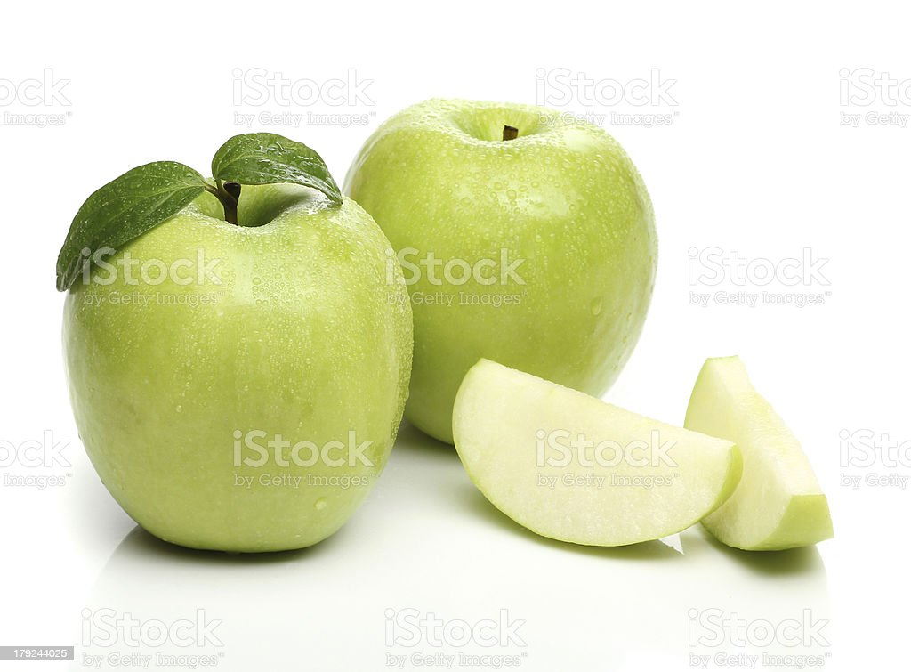 Healthy green apple isolated on white background royalty-free stock photo