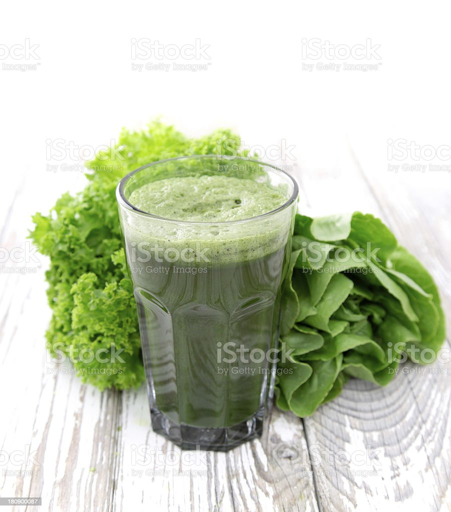 A healthy green glass of juice royalty-free stock photo