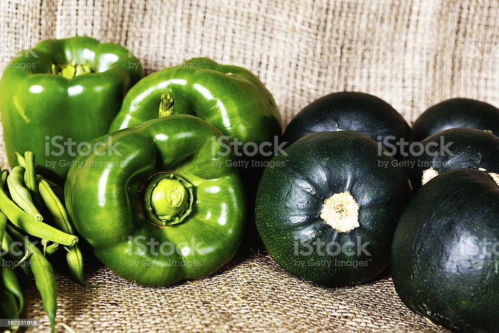 Healthy green goodness at farmers market royalty-free stock photo