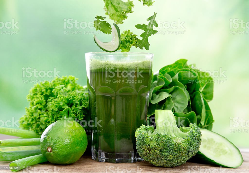 Healthy green juice royalty-free stock photo