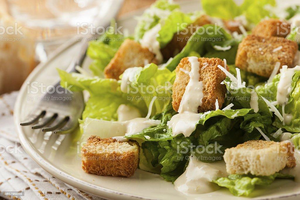 Healthy Green Organic Caesar Salad stock photo
