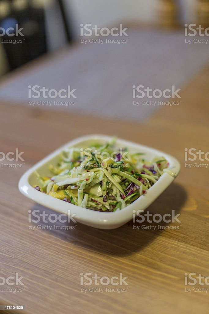 Healthy green salad royalty-free stock photo