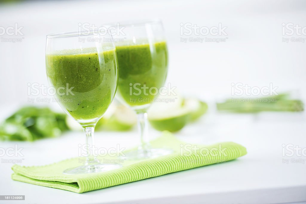 Healthy green smoothie royalty-free stock photo