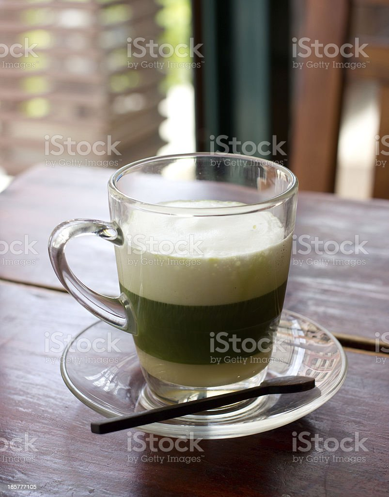 healthy green tea on the table royalty-free stock photo
