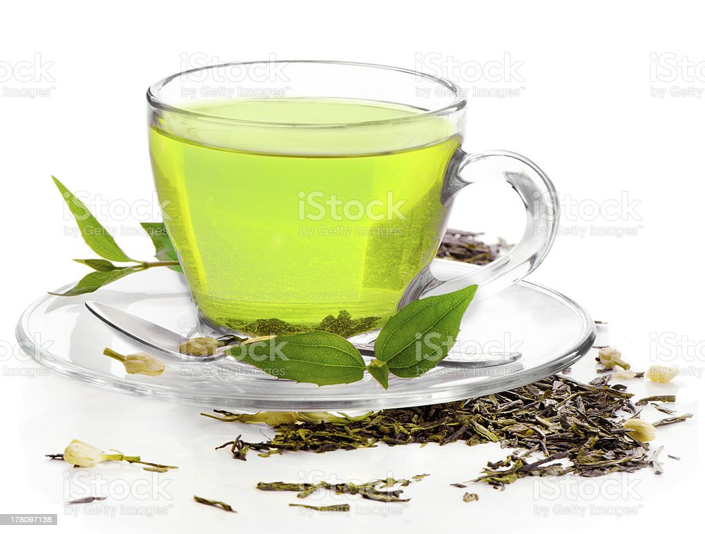 healthy green tea stock photo