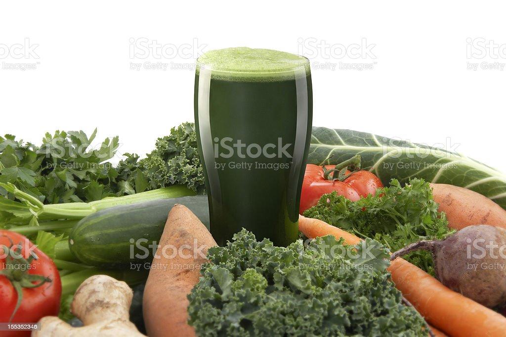 Healthy green Vegetable Juice stock photo