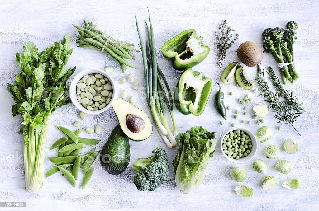 Healthy green vegetables stock photo